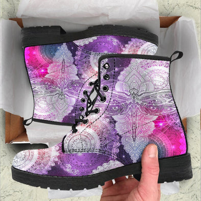 HandCrafted Colorful Dragonfly Boots