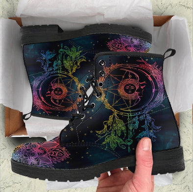 HandCrafted Colorful Sun Dream Catcher Boots