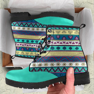Handcrafted Turquoise Blue Tribal Boots