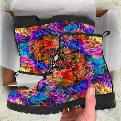 HandCrafted Colorful Lotus Boots