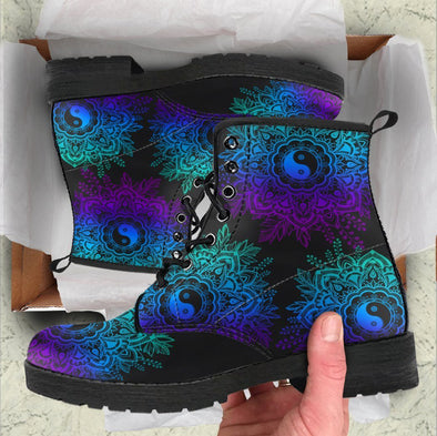 HandCrafted Yin and Yang Mandala Boots