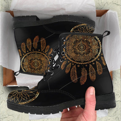 HandCrafted DreamCatcher Gold Boots