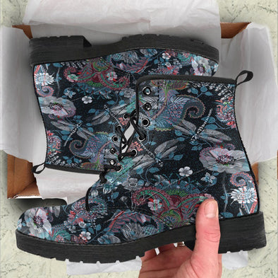Handcrafted Dragonfly Flowers 4 Boots