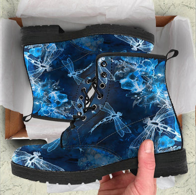 Clearence Blue Dragonfly Boots
