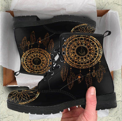 Handcrafted Gold dreamcatcher 4 Boots
