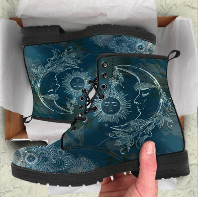 HandCrafted Sun and Moon Boots