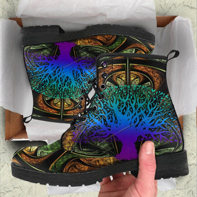 Handcrafted Multi-color Tree of Life DNA Boots