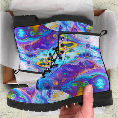 Handcrafted Abstract 2 Boots .