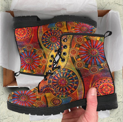 HandCrafted Colorful Mandala Boots