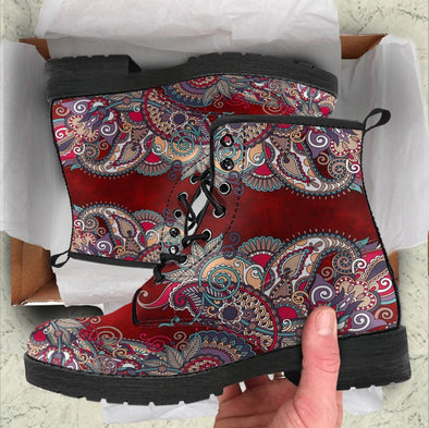 Handcrafted Paisley Mandala 2 Boots.
