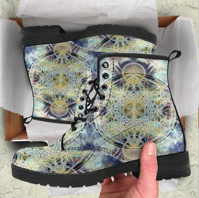 Handcrafted Glowing Mandala 3 Boots