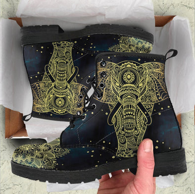 HandCrafted Golden Elephant Boots