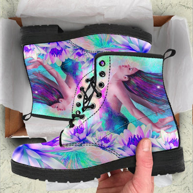 HandCrafted Magical Lotus Women Boots