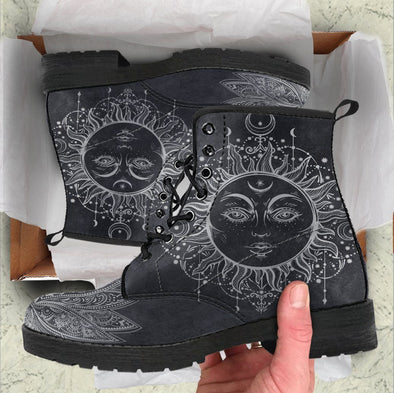 HandCrafted Sun and Moon Lotus Boots