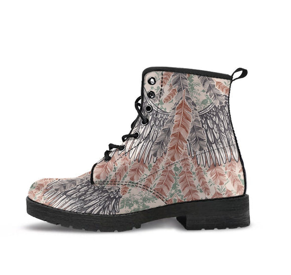 HandCrafted Colorful Vintage Feather Boots