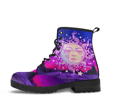 HandCrafted Galactic Sun and Moon Boots