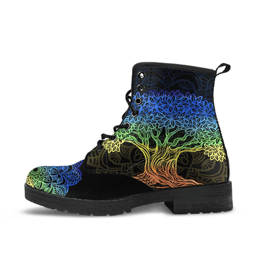 HandCrafted Tree of Life Mandala Boots.
