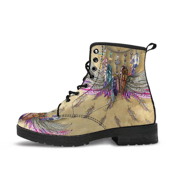 HandCrafted Colorful Ethnic Feather Boots