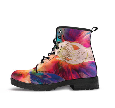 HandCrafted Colorful Sun and Moon Boots.