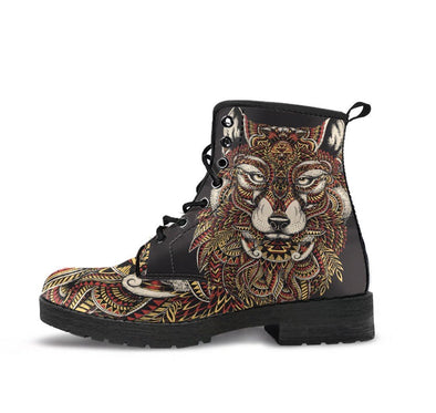 HandCrafted Abstract Wolf Boots
