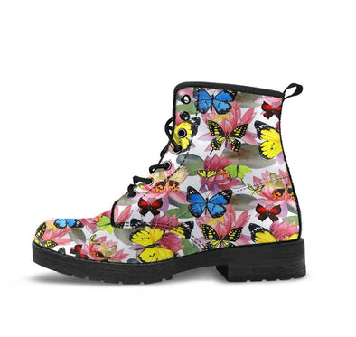HandCrafted Multicolor Lotus Butterfly Boots