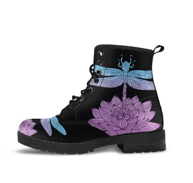 HandCrafted Electric Lotus Dragonfly Boots