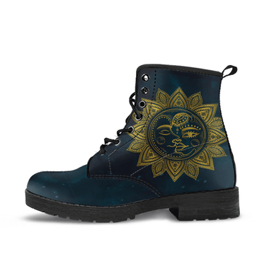 HandCrafted Golden Sun and Moon Boots.
