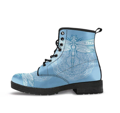 HandCrafted Carolina Blue Dragonfly Boots