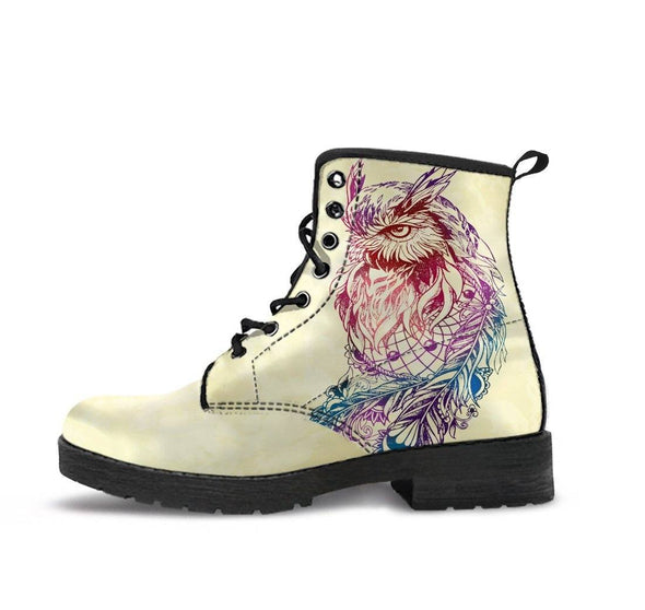 Handcrafted Colorful Owl Boots