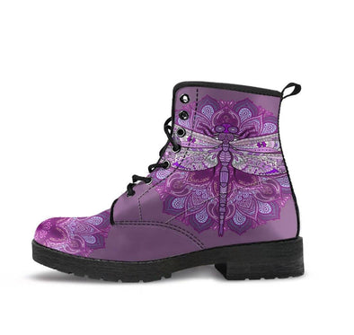 HandCrafted Purple Dragonfly Fractal Boots