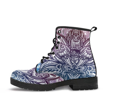HandCrafted Spring Lotus Mandala Boots