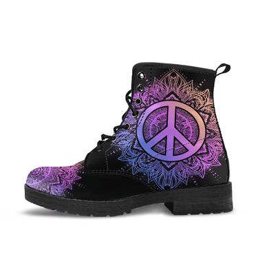 HanfCrafted Purple Peace Mandala Boots.