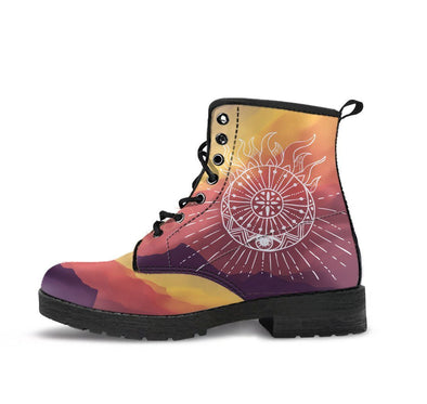HandCrafted Aztec Sun and Moon Boots.
