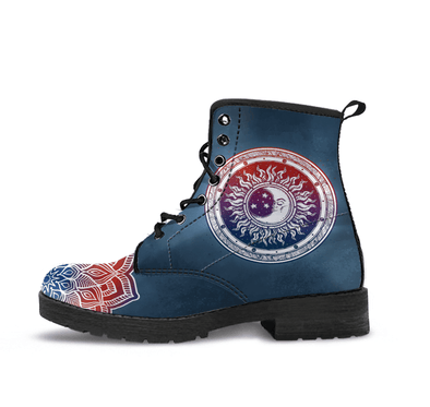 HandCrafted RWB Sun and Moon Boots.