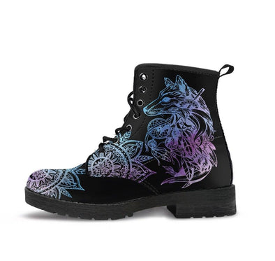 HandCrafted Wolf Mandala Boots