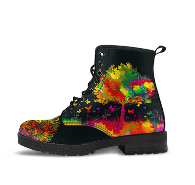 HandCrafted Colorful Tree of Life Boots.