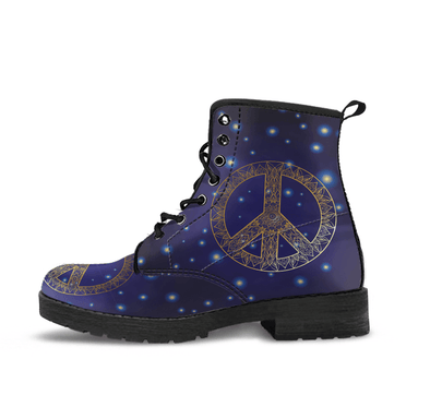 HandCrafted Peace Boots.