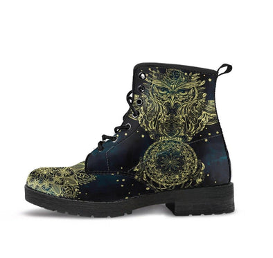 Handcrafted Gold Owl 1 Boots