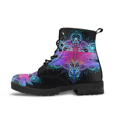 HandCrafted Electric DragonFly Mandala Boots