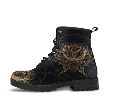 HandCrafted Lotus Fractal Boots