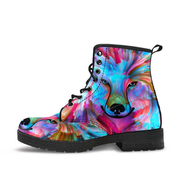 HandCrafted Colorful Wolf Boots