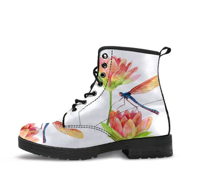 HandCrafted Spring Lotus Dragonfly Boots