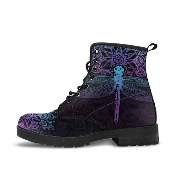 HandCrafted Purple Dragonfly Boots