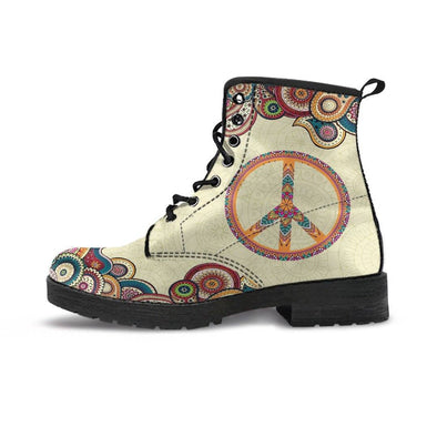 HandCrafted Fractal Peace Boots.