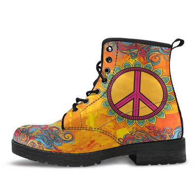 HandCrafted Peace is Golden Boots.