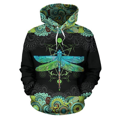 Dragonfly Mandala All Over Hoodie