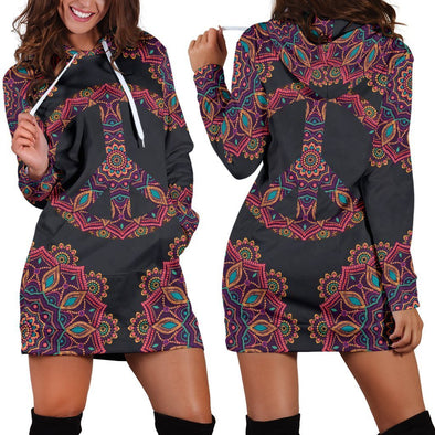 Peace Mandala Hooded Dress