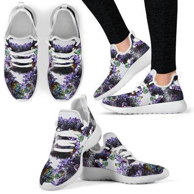 Clearance Lavender Mesh Knit Sneakers