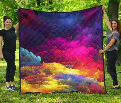 Colorful Clouds Quilt