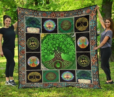 Artistic Yin Yang Tree of Life Quilt